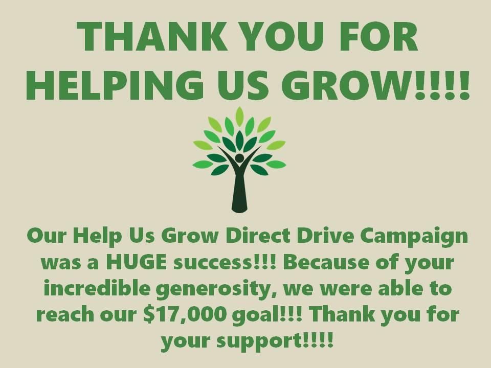 Help Us Grow thanks