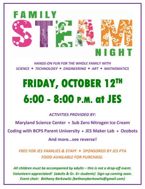 2018-10-12 Family Steam Night Image 1