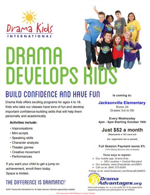 2018-Fall-Drama Kids Flier